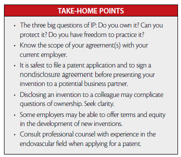 Take-Home Points - Evaluating the Freedom to Operate - Endovascular Today