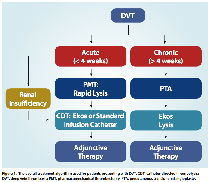 Endovascular Today - A Treatment Algorithm for DVT (July 2014) Venous Thrombosis Treatment